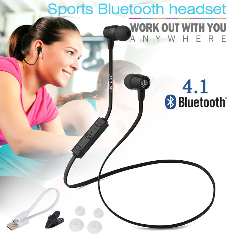 XCSOURCE Wireless Bluetooth 4.1 Sport Earphone (Black) - thumbnail