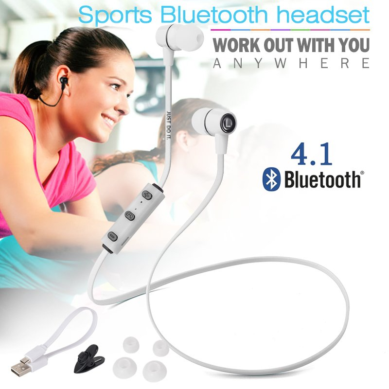 XCSOURCE Wireless Bluetooth 4.1 Sport Earphone (White) product preview, discount at cheapest price