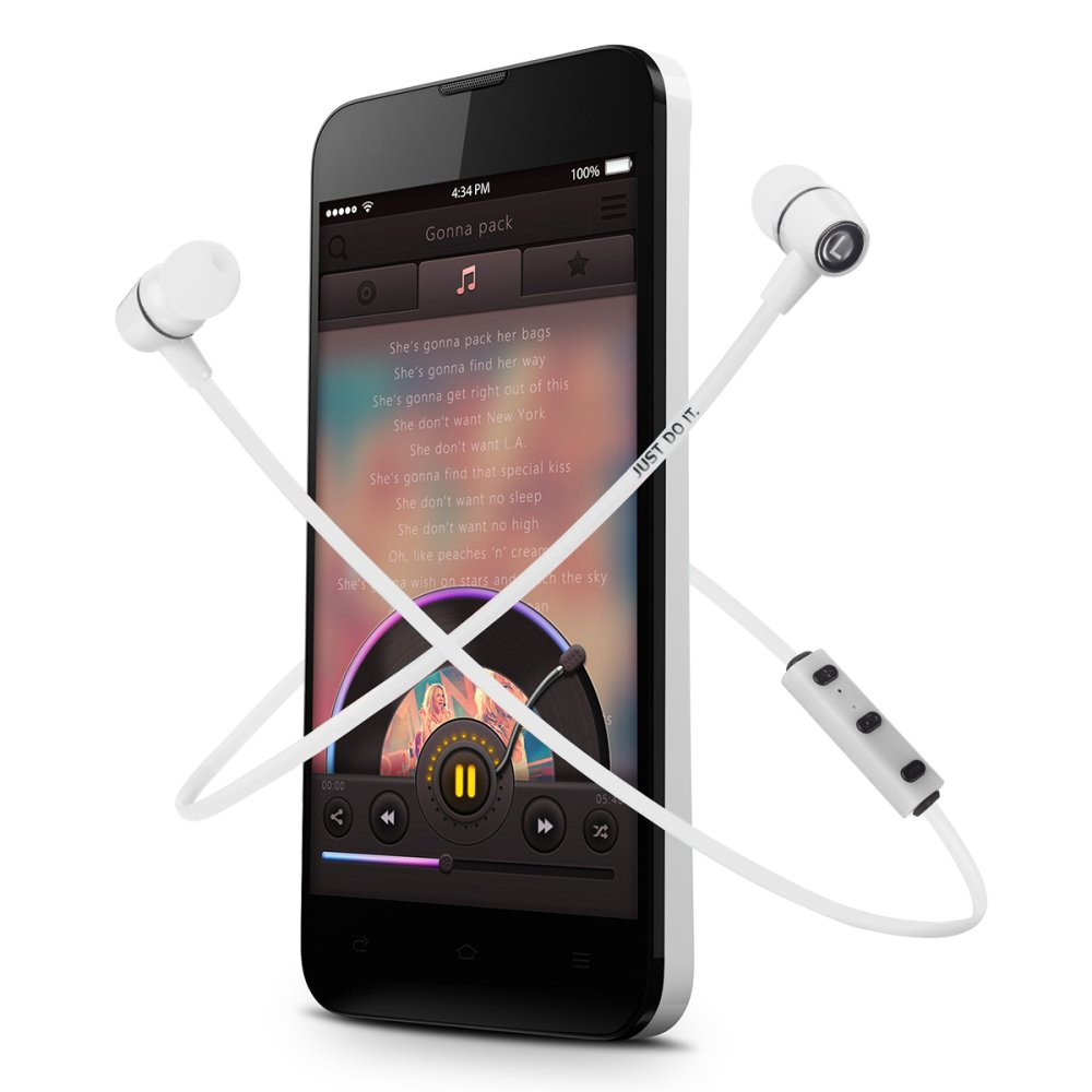XCSOURCE Wireless Bluetooth 4.1 Sport Earphone (White) - thumbnail