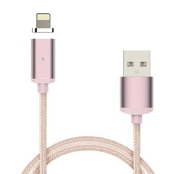 XHLEIA 1.0m Length 2.0A Magnetic USB Charge Cable for iPhone 5 5S SE 6/6S Plus 7 8 (Rose) - intl