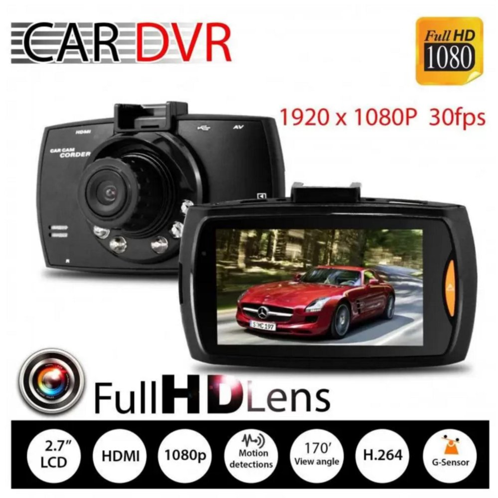 "Xiaocai- G30 Car Cameras + 2.7"" Car Driving Video Recorder Car Dvr Fhd 1080P Dash Cam Camcorder Night Vision"