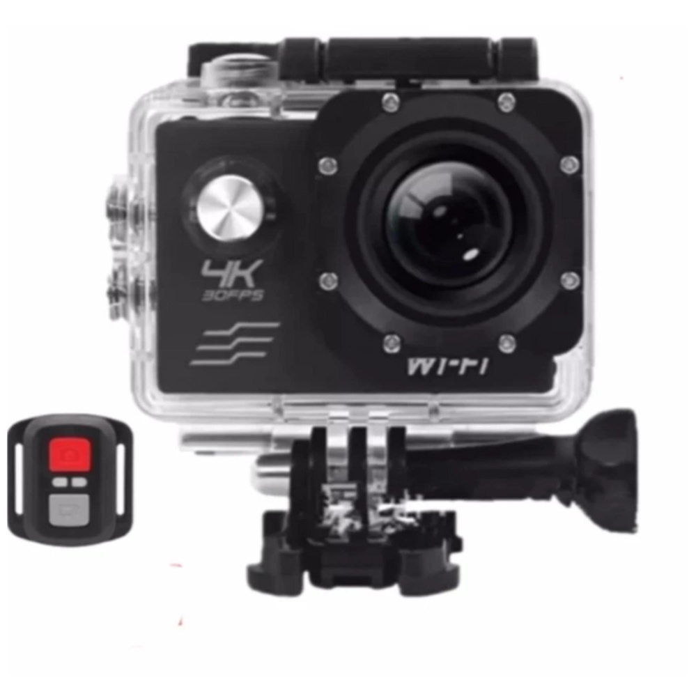 Xiaocai-H10R 4K Action Camera Wifi Sports Cam + Remote Control Shutter