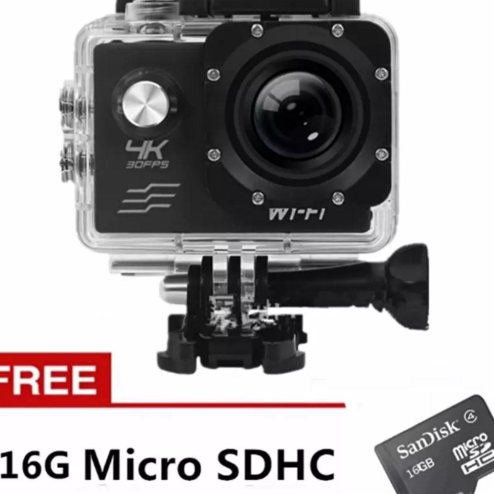 Xiaocai-New Ultra Hd 4K Wifi 20Mp Action Camera Sport Dvr (Black) With Free 16Gb Sd Card