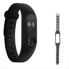 "Xiaomi 0.42"" OLED Touch Mi Band 2 Smart Wristband w/ Steel Strap - intl"