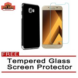 Samsung A5 2017 Xundd Knight Series Case (Black/Silver) with FREE Tempered Glass