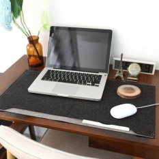 YBC Felt Mat Mouse Pad Holder Laptop Cases Computer Desk Table Pad - intl
