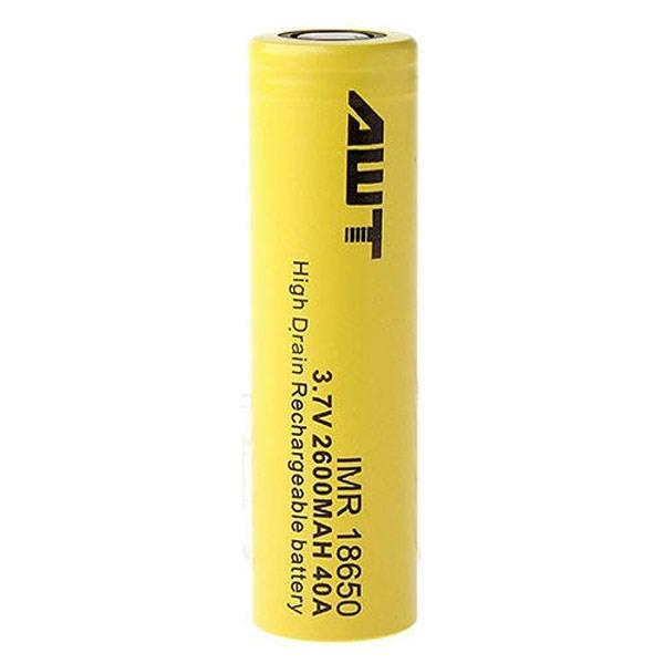 Yellow AWT 18650 2500 mAh Battery