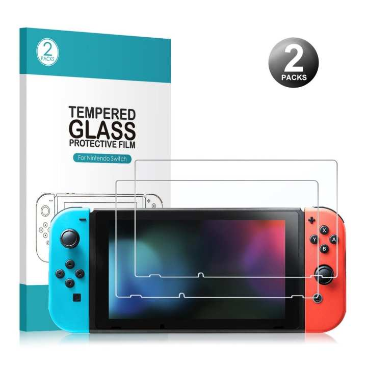 Younik 2 Packs 0.25mm / 9H Ultra Clear Durable High-end Tempered Glass Nintendo Switch Screen Protector - intl