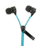 Zipper earphone Super Bass in-ear (blue) - thumbnail 1