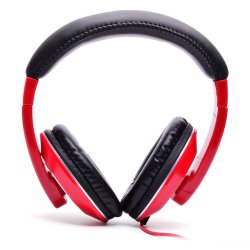 Techno Tamashi TH-T3 Over-the-Headphones (Red)