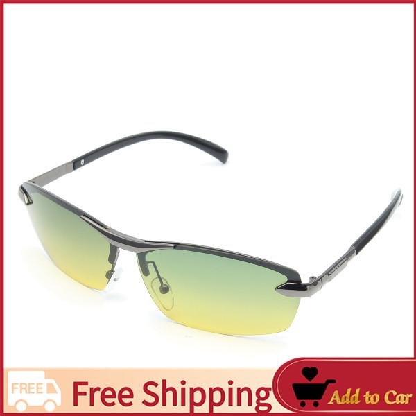 ccb751b8b12b  Free Shipping Day Night Vision Men s Polarized Sunglasses Driving Aviator  Mirror Sun Glasses