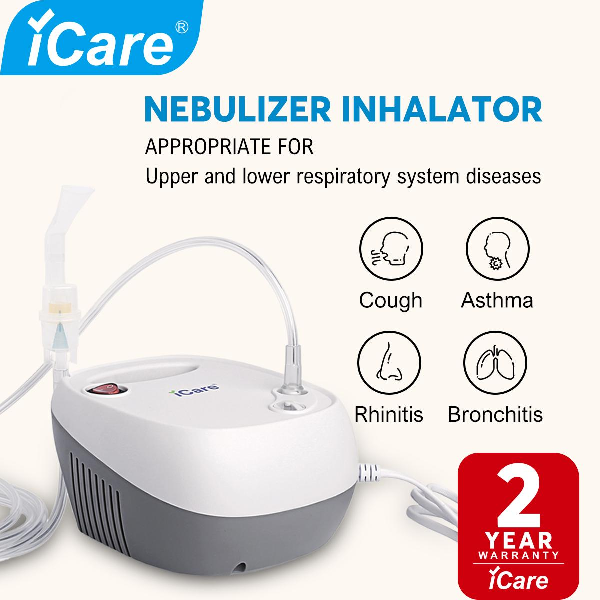 Icare®n38 Ultra Compressor Nebulizer Inhalator With Adult And Children Mask Kits By Icare Rehab Philippines.