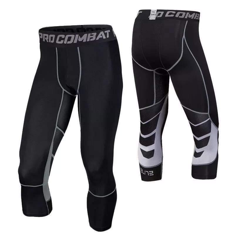 8003 Pro Combat Compression Tight 3/4length Pants By Gideon Sport Shop.