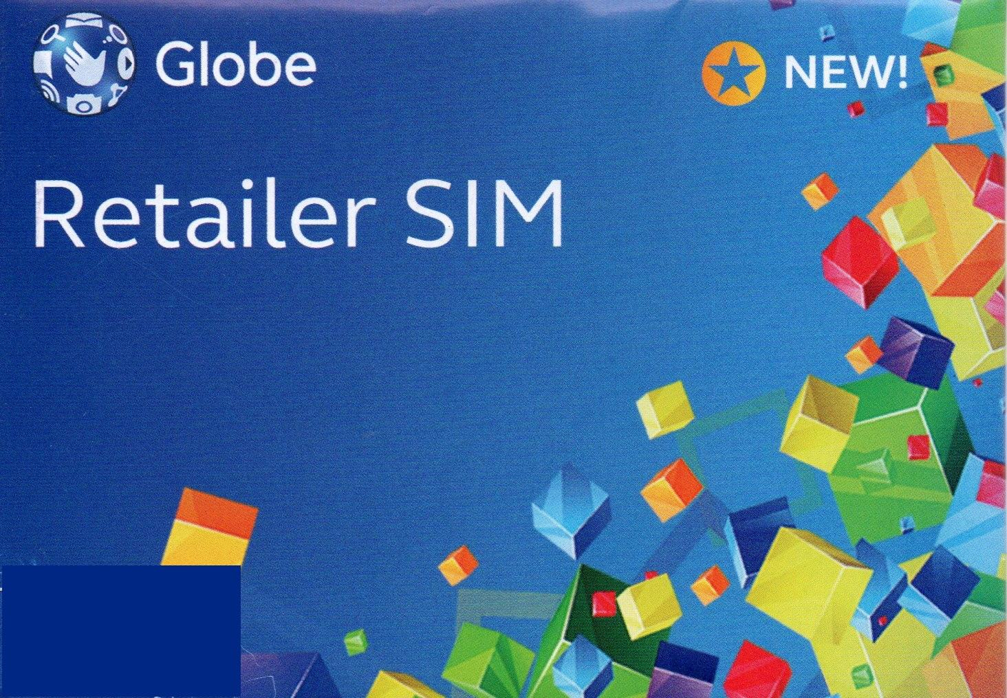 GLOBE RETAILER SIM WITH Php500 LOAD WALLET VALUE