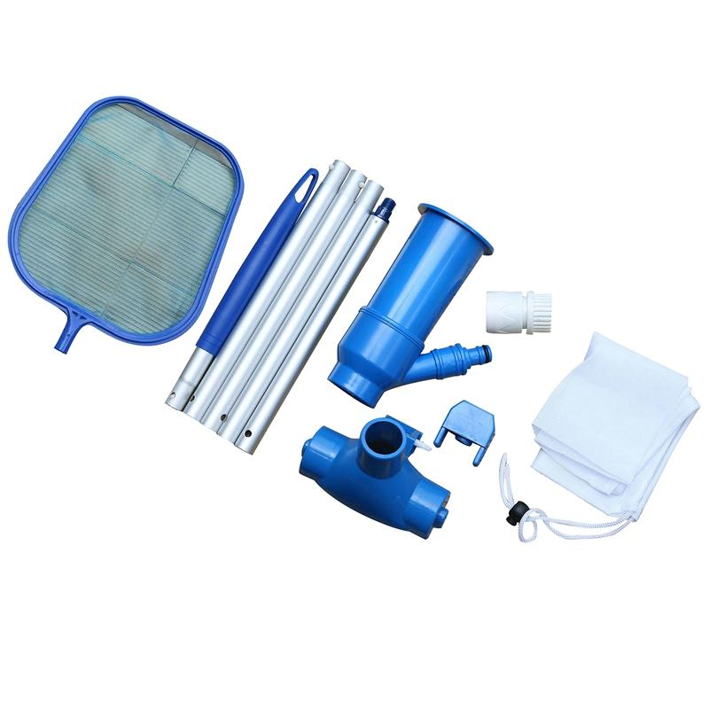 Portable Swimming Pool Pond Hot Spring Pool Fountain Vacuum Cleaner Suction Head Pond Cleaning Leaf Skimmer Mesh Set Cleaning Tool