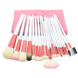 20pcs Cosmetic Makeup Brush Set in Bag Pink and White (Intl)