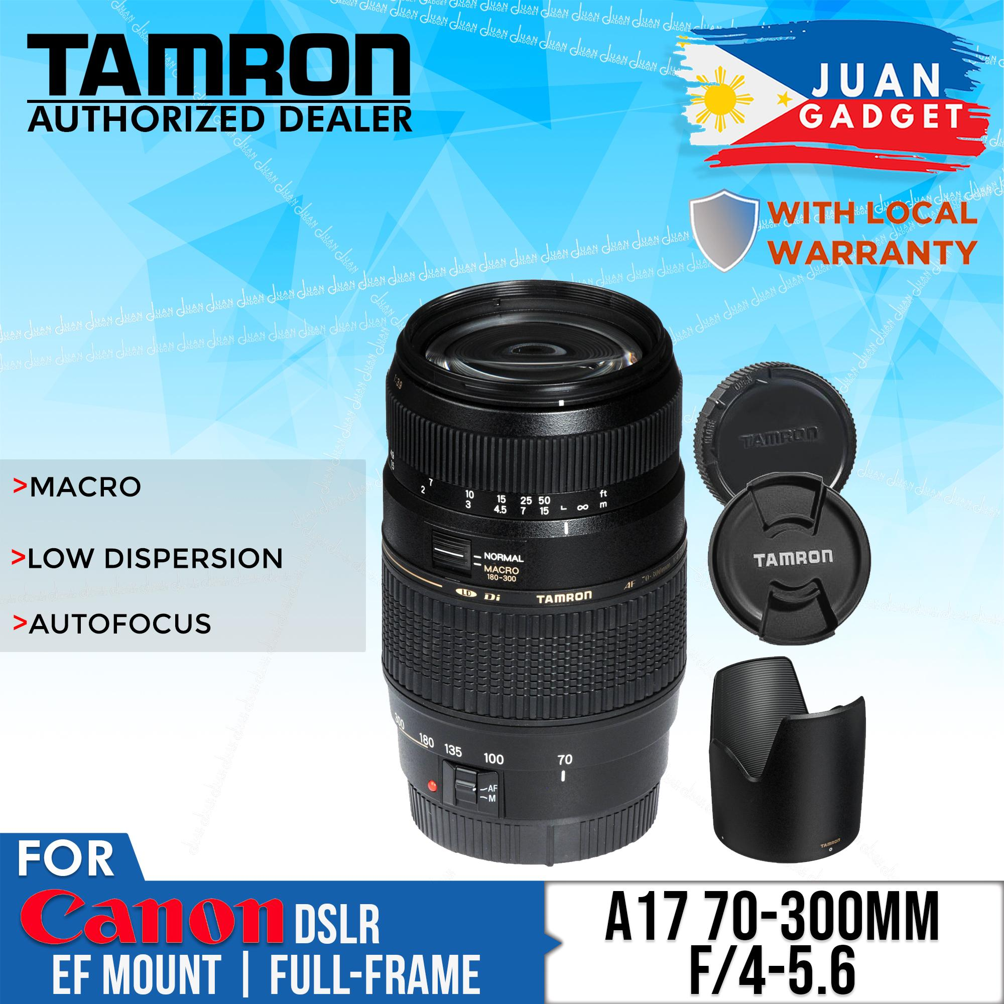 Tamron A17 Zoom Telephoto AF 70-300mm f/4-5 6 Di LD Macro Lens for Canon