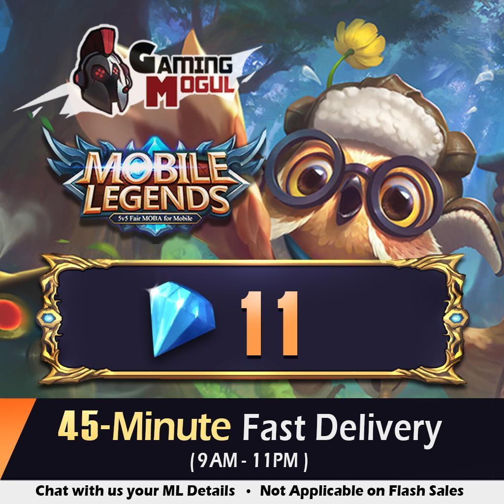 [PROMO] Mobile Legends 11 Diamonds - [FAST DELIVERY & TOP RATED] - ML Dias - Gaming Mogul