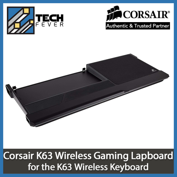 Corsair K63 Wireless Gaming Lapboard for K63 Wireless Keyboard - Game Comfortably from Your Couch, Black Singapore