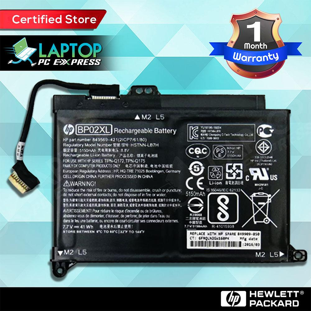 Hp Laptop Battery part number: 849569-421, 849569-541, 849569-542,  849569-543, 849909-850, BP02XL, BP02041XL, HSTNN-LB7H, HSTNN-UB7B, TPN-Q172