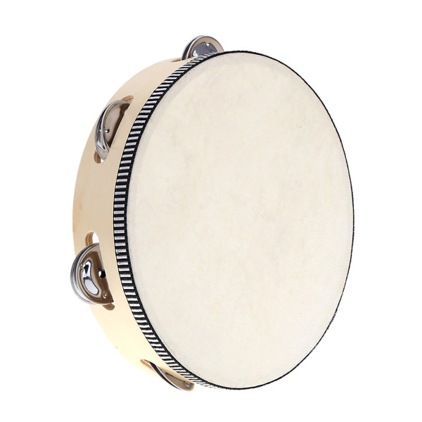 8 Hand Held Tambourine Drum Bell Birch Metal Jingles Percussion Musical Educational Toy Instrument for KTV Party Kids Games Malaysia