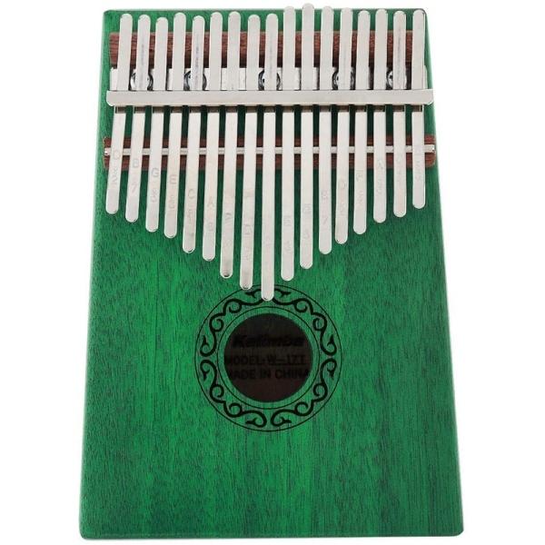 Kalimba Thumb Piano,17 Keys Kalimba Veneer Mahogany Finger Percussion for Music Lover Beginners Children