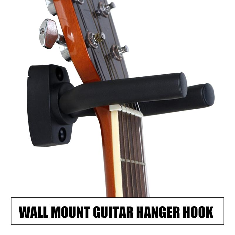 Zoo On Yoo Guitar Hanger Hook Wall Mount Guitar Stand Keeper Holder Ukri, Guitar Wall Mount - Guitar Accessories For Acoustic Guitars-1 Pack,black By Boom.