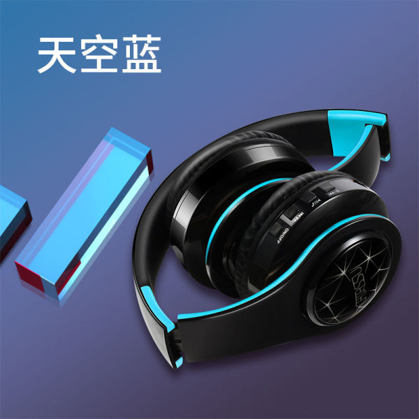 Headset Bluetooth headset luminous headset sports running super long standby wireless binaural game music bass cool colorful lights mobile phone computer universal fashion men and women 23QD Singapore