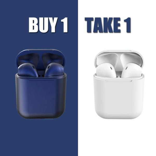 Original BUY 1 TAKE 1 i12 Apple TWS Airpods Wireless Bluetooth Earphone inPods 12 Bluetooth 5.0 Macarons Mini In-ear Earbuds Smart Touch Stereo Sports Headphones with Mic Charging Box For iP Apple Android Huawei Xiaomi Samsung All Smart Phone Singapore