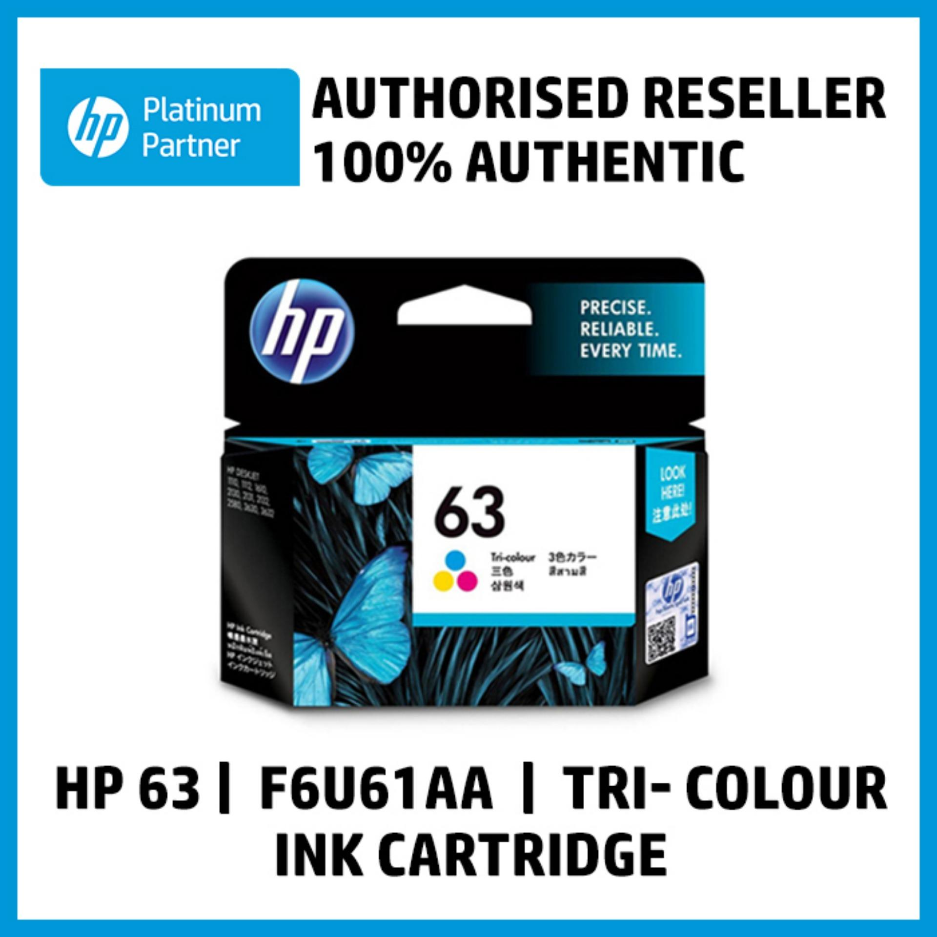 Hp 63 Tri-Color Original Ink Cartridge (f6u61aa) By Integrated Computer Systems, Inc..