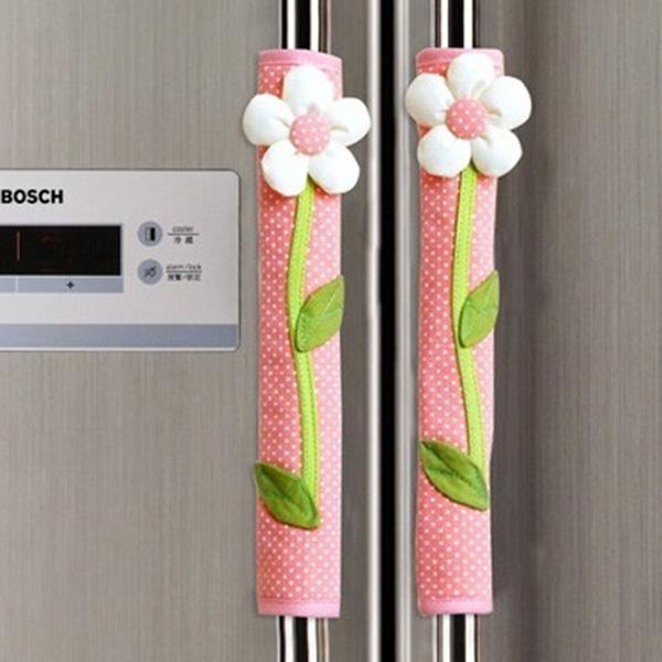 Refrigerator Door Handle Covers Kitchen Appliance Fridge Microwave Clean Smudges