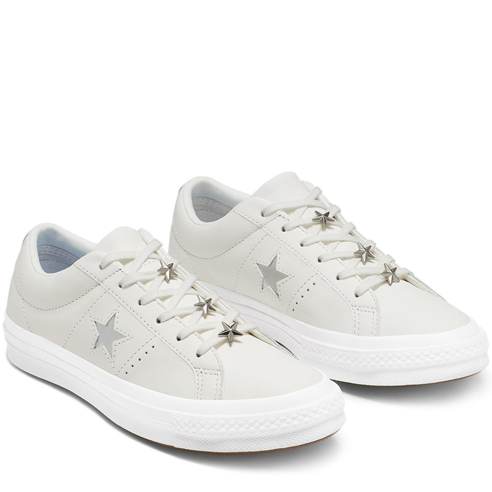 CONVERSE ONE STAR STARWARE OX WHITEMETALLIC GRANITEWHITE 513839 165020C