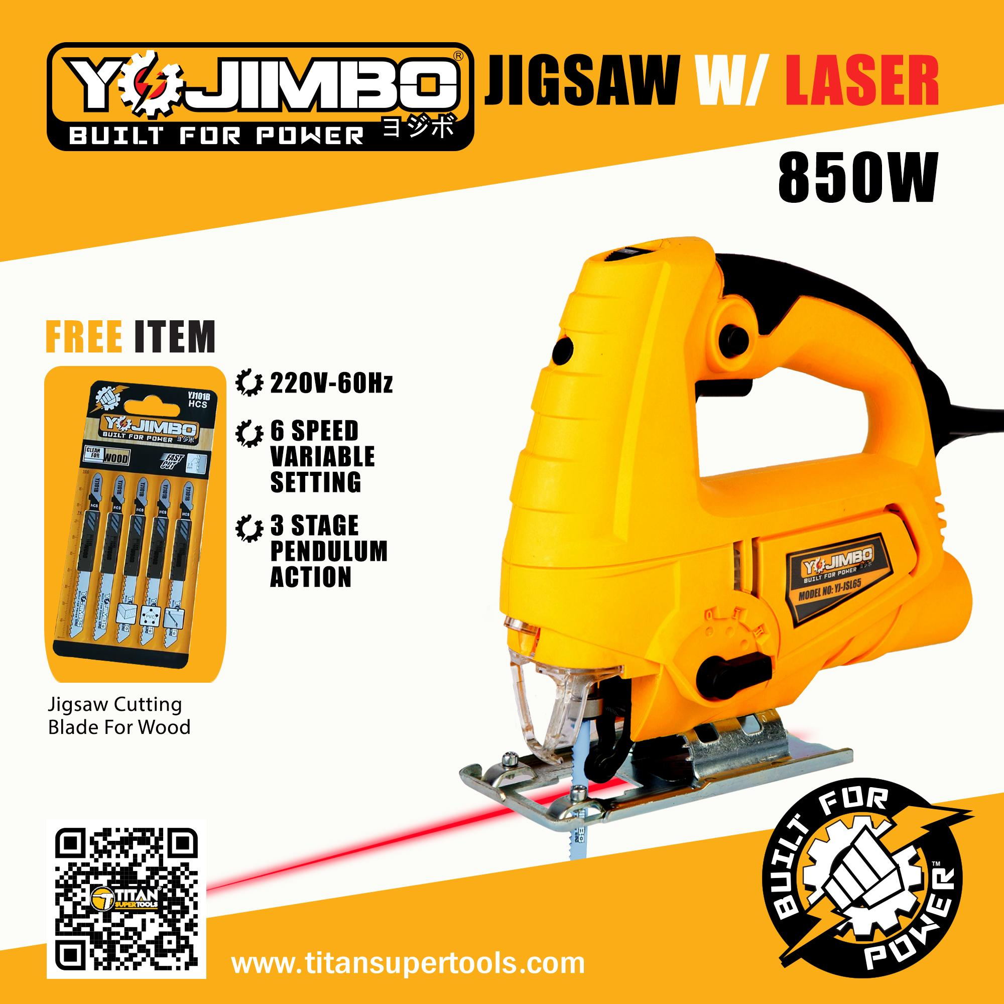 Yojimbo 850W Electric Jigsaw with Laser
