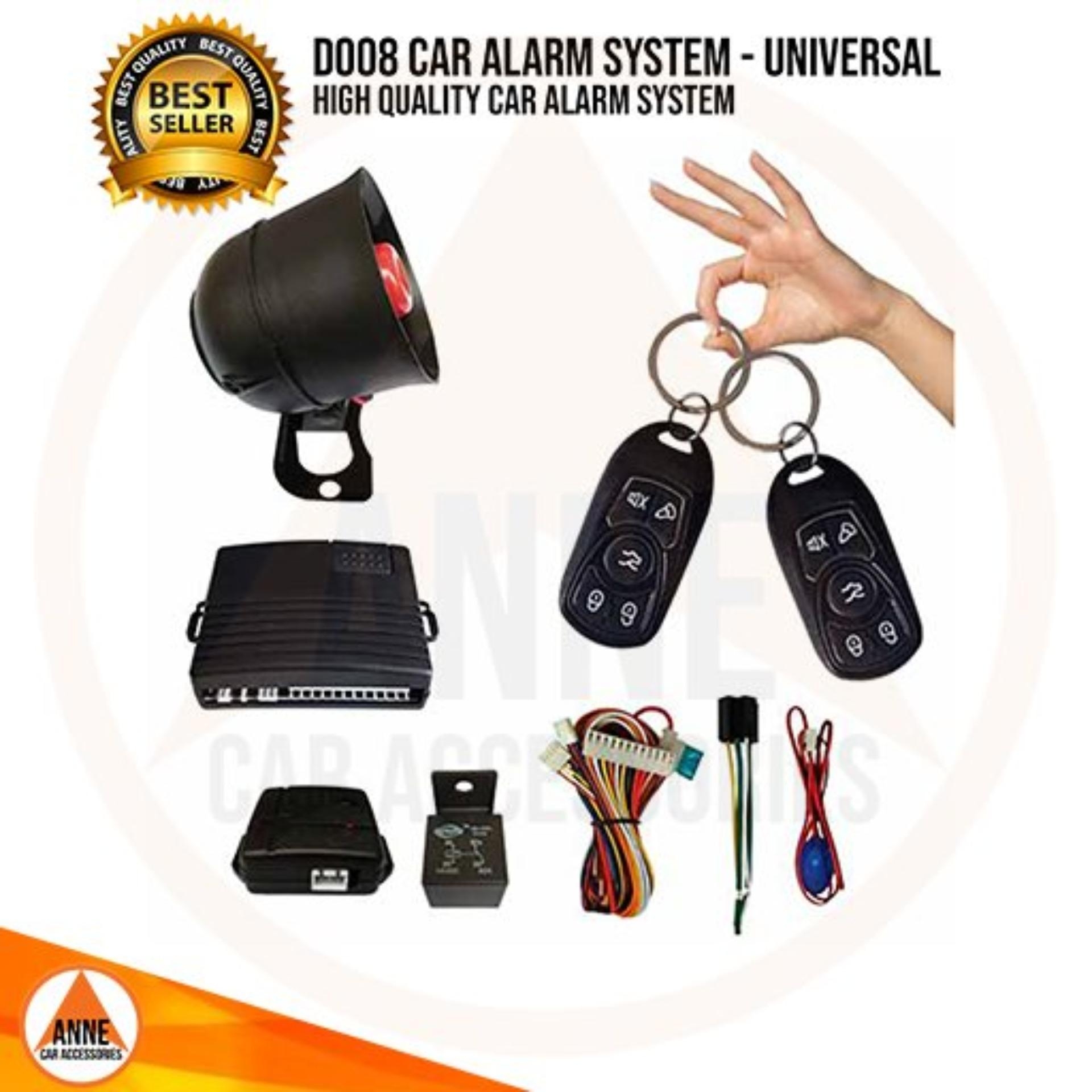 Universal Car Alarm System with 100% Water Proof Remote - High Quality