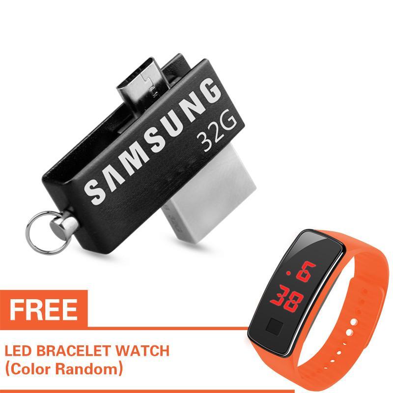 Samsung 32gb 32g Usb 2.0 Flash Memory Stick Drive Storage U Disk For Otg Phone Pc With Free Led Watch By Jmk Electronics.
