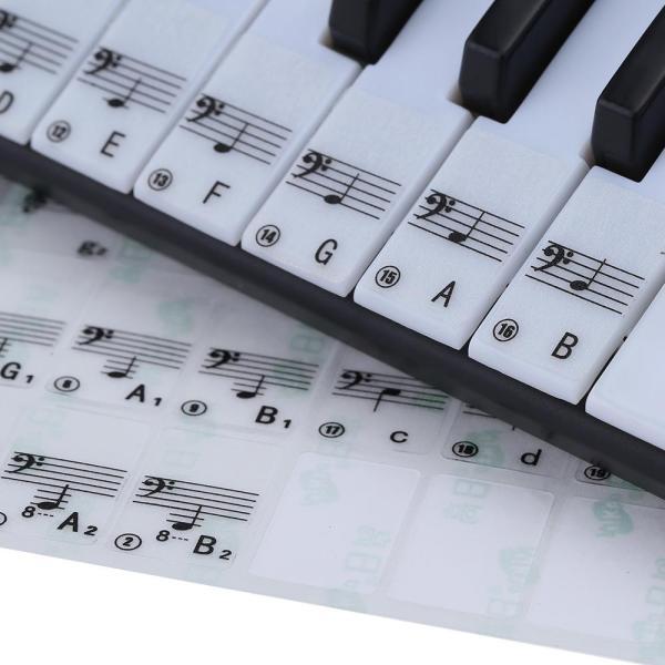 Transparent 49 61 Key Electronic Keyboard 88 Key Piano Stave Note Sticker for White Keys Malaysia