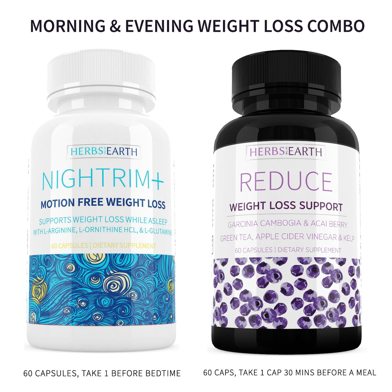 Reduce and NighTrim 24 Hour Weight Loss Diet Pills, Garcinia Cambogia, Acai, plus