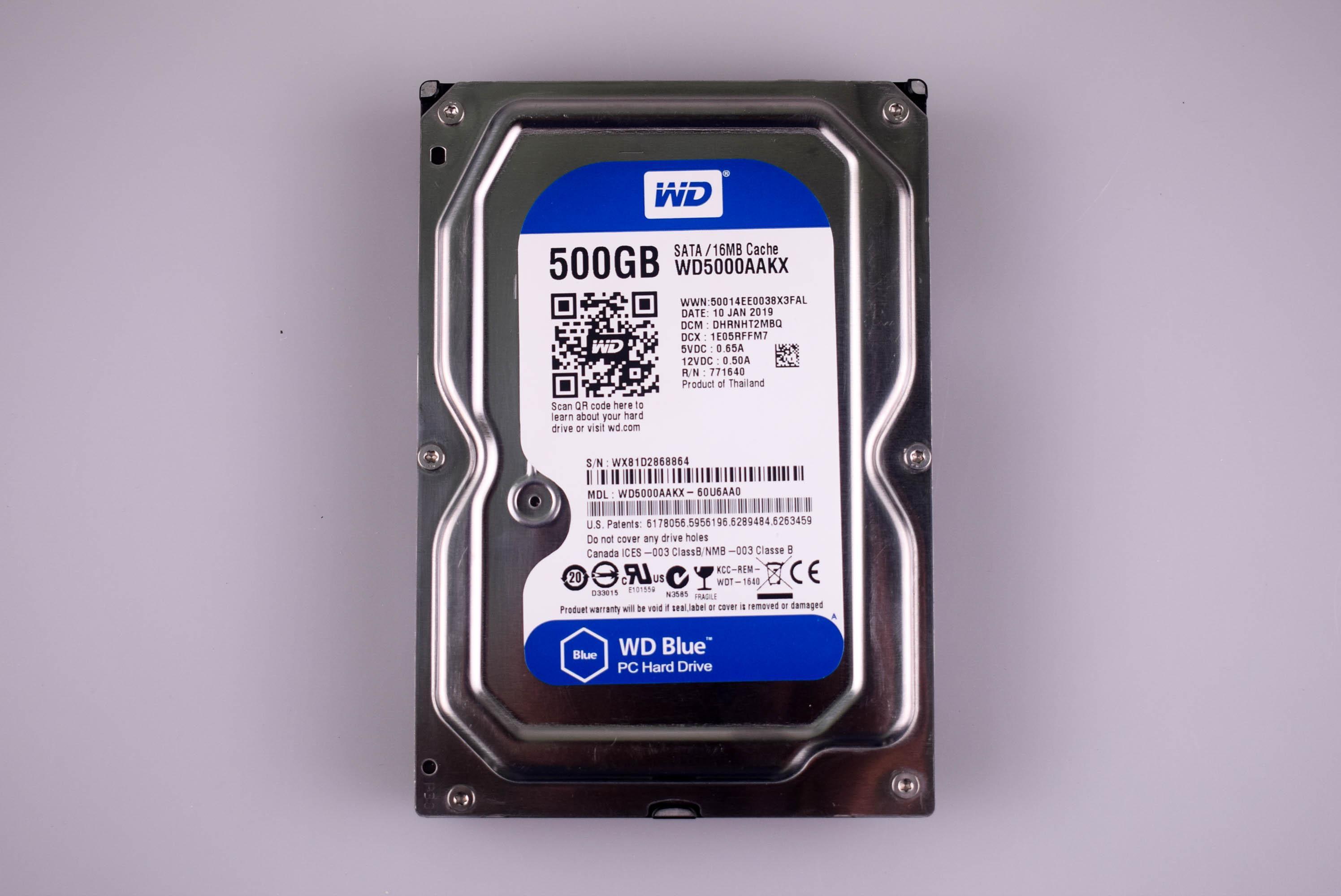 Western Digital WD5000AAKX Blue 500GB 7200RPM 16MB SATA Hard Disk Drive