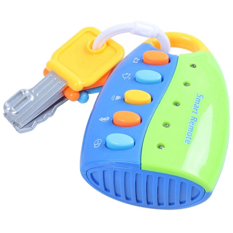 Baby Musical Smart Remote Car Key Toy Car Voices Pretend Play Education Toy