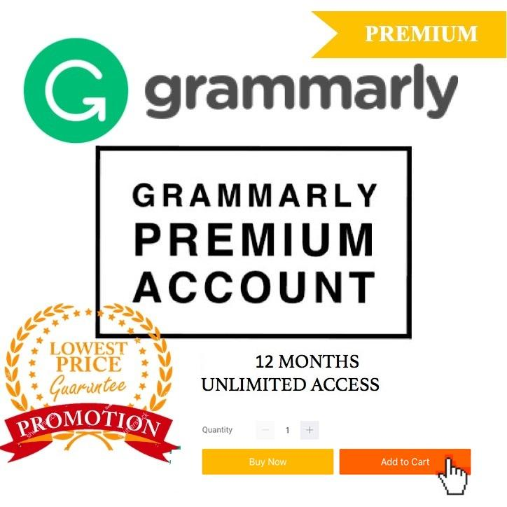 Instant Delivery Moderate Price 12 Month Warranty Grammarly Premium Lifetime Account