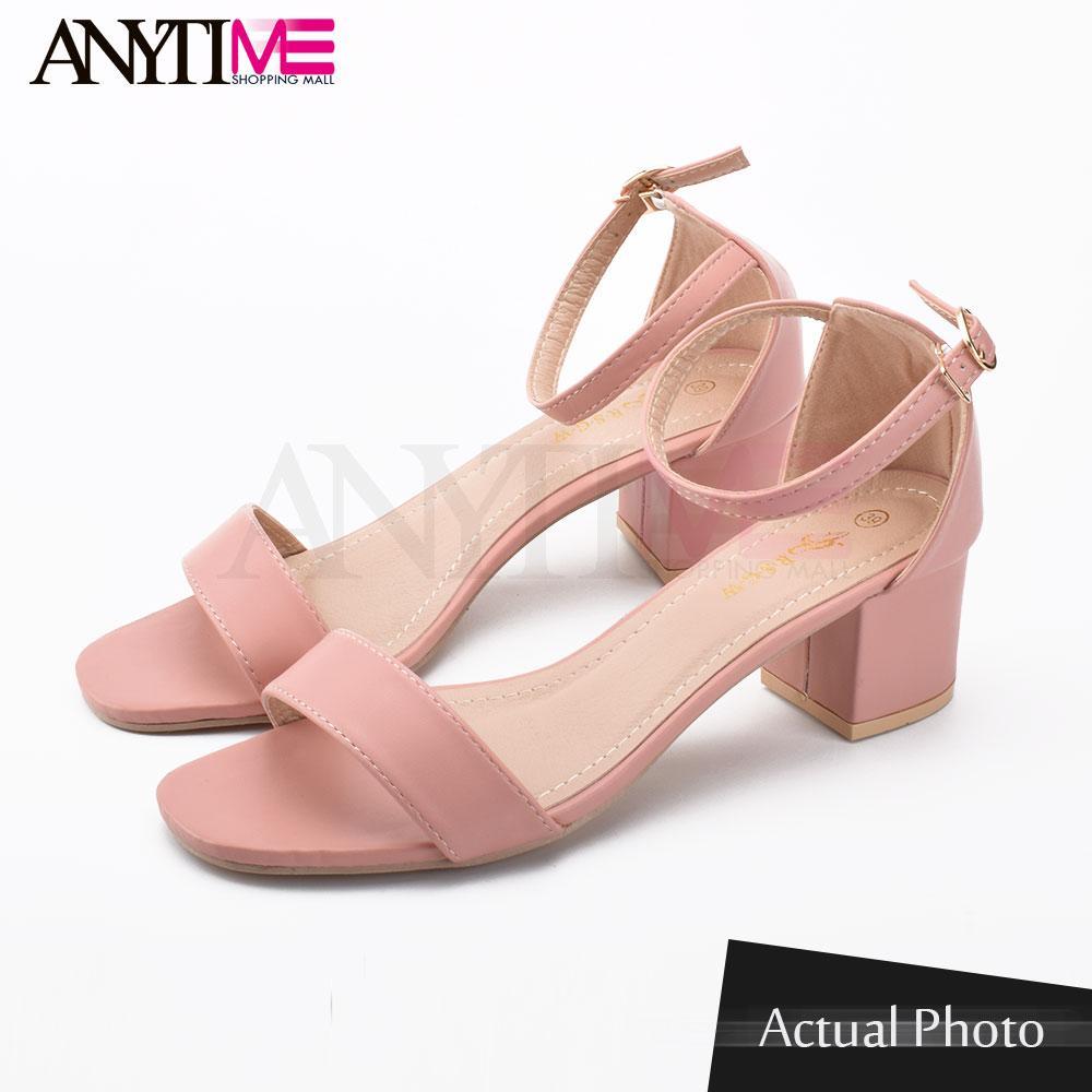 aa6c66b1310 Anytime shopping mall Korean block heels sandals high heels 2.5 inch