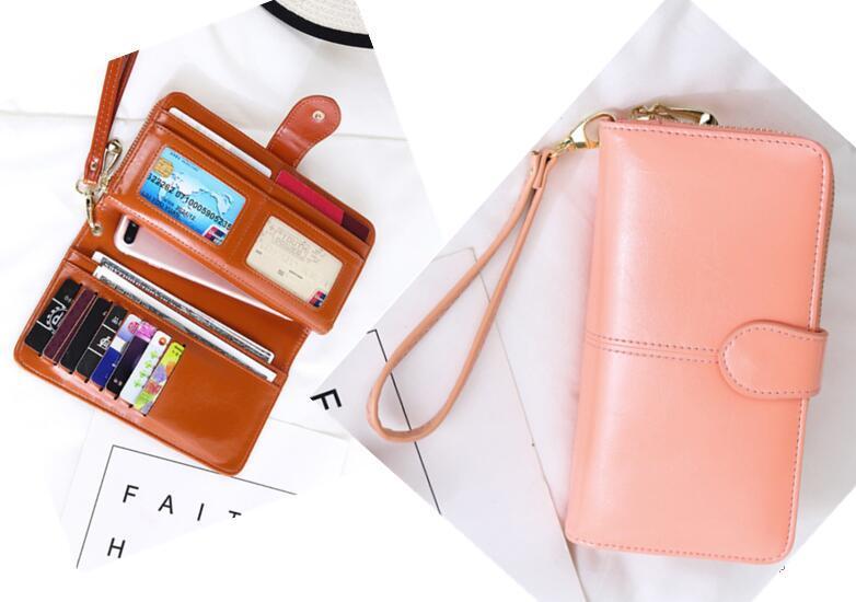8a442c81d038 Korean Wallet Leather Wallet Smart Wallet Long Wallet Card Holder Case  Clutch Purse Handbag Women Wallets