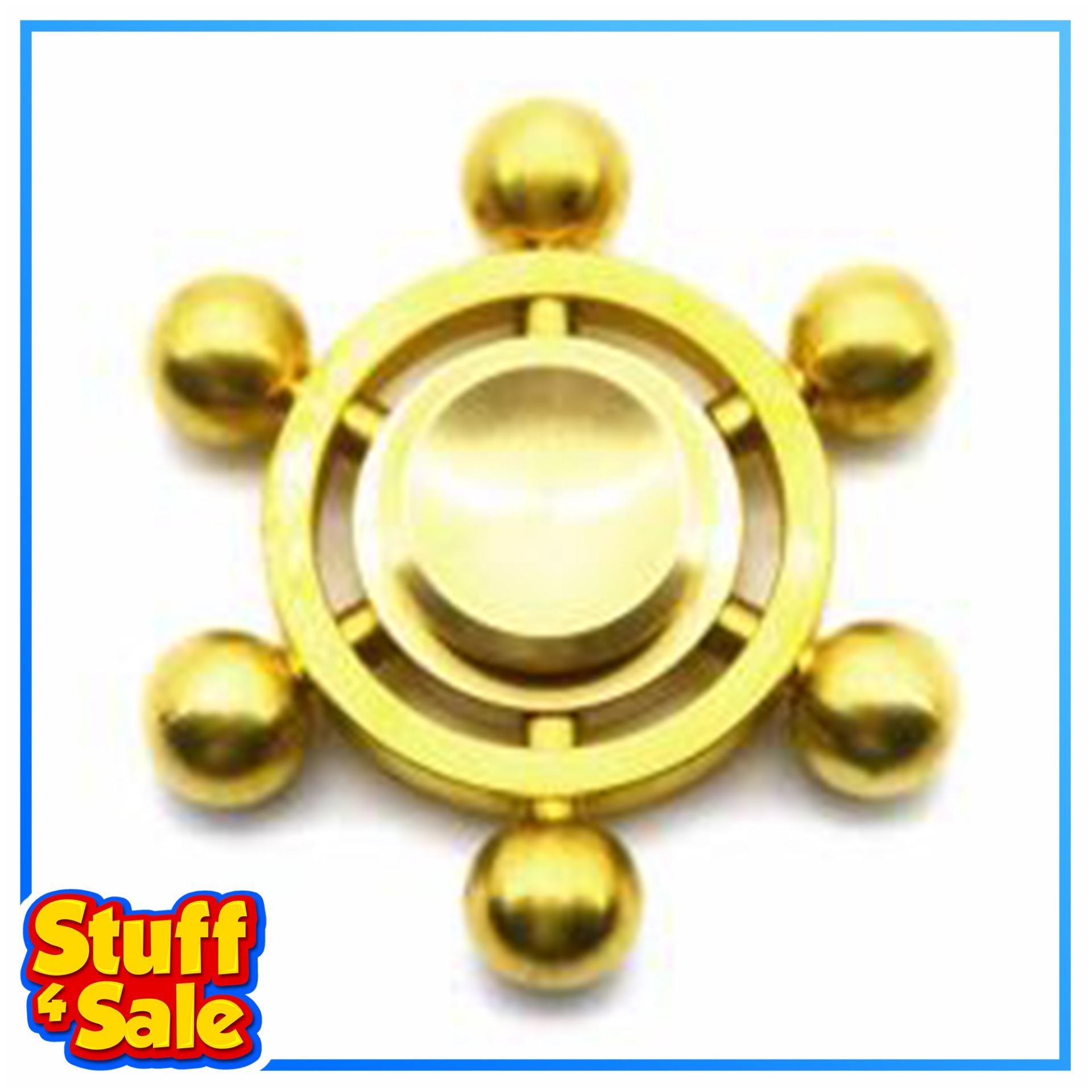 Solid Brass Copper Metal Fidget Spinner - Rudder Ship Steering Wheel By Stuff 4 Sale.