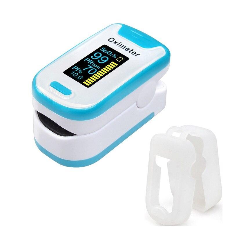 (130A-blue with case )ELERA New Alarm finger oximeter OLED pulse oximeter Portable pulsioximetro SPO2 PR oximetro de dedo Digital oximeter a finger LLT Store