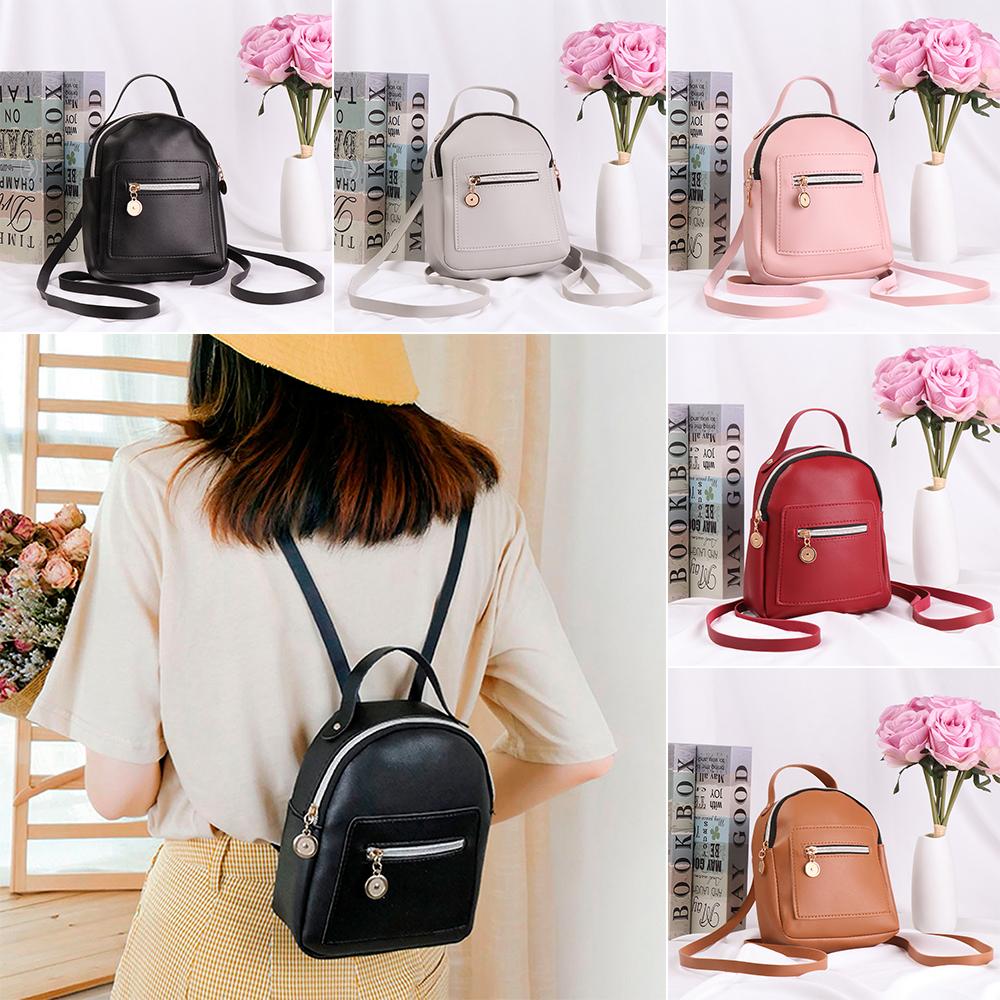 Fashion Women Girls Leather Mini Backpack Travel School Backpack Shoulder Bags