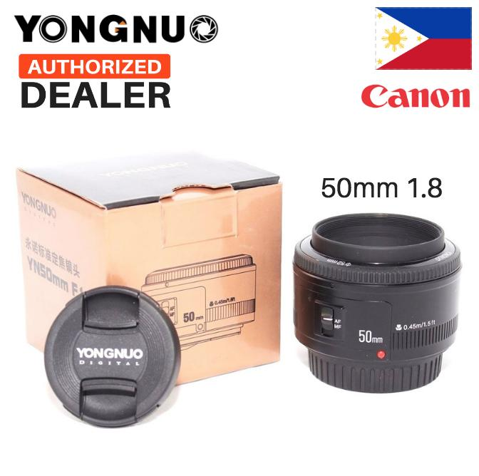 Yongnuo 50MM YN50MM 50mm f/1.8 Prime Lens for Canon EF Auto Focus (Lee Photo) 50mm f1.8