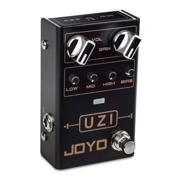 JOYO R-03 Uzi Distortion Pedal Guitar Effect Pedal with BIAS Knob for Heavy Metal Music True Bypass