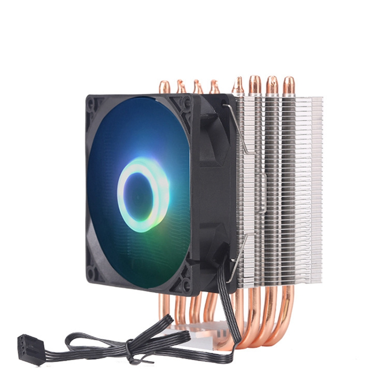 Giá 9Cm 4 Heat Pipe 4 Pin Single Fan With Light Cpu Fan Cpu Heatsink For Intel 775/1150/1155/1156/1366 For Adm All