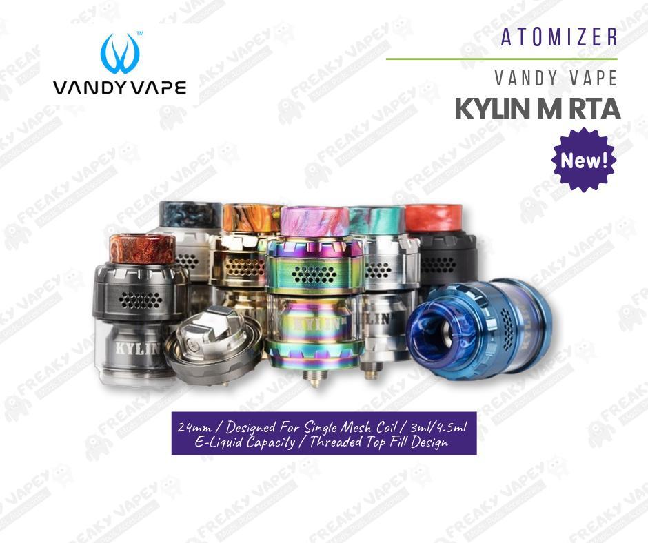 Vandy Vape Kylin M LEGIT RTA 24mm 3ml/4 5 ml Rebuildable Tank Atomizer Mesh  Style Coil