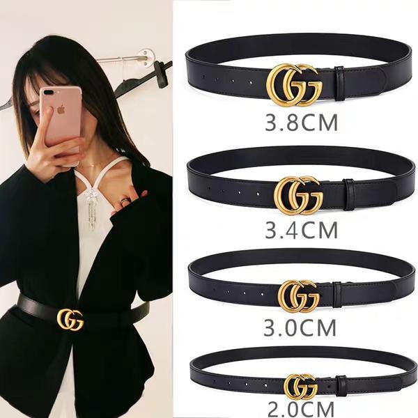 Black Skinny Elegant Woman Design Belt With Double Rhinestones Ribbon